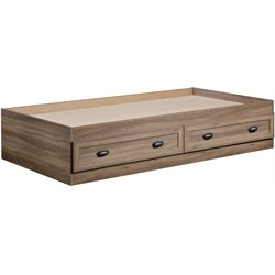 Twin Mates Bed in Salt Oak