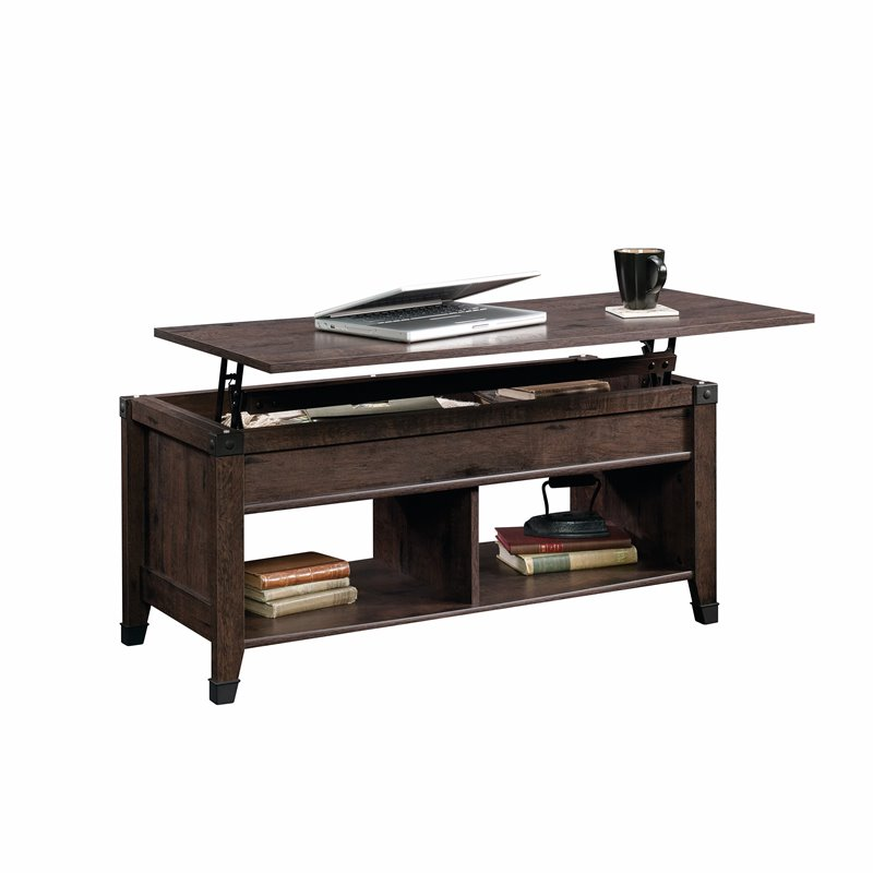 Lift Top Coffee Table In Coffee Oak 420421