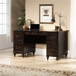 Pedestal Desk in Jamocha Wood