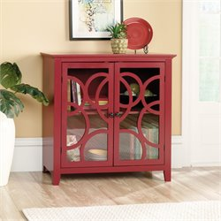 Sauder Shoal Creek Elise Accent Chest in Plum Red