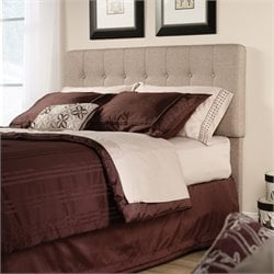 Sauder Shoal Creek Queen Tufted Panel Headboard in Camel