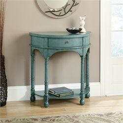 Sauder Harbor View Entry Table in Antiqued Teal