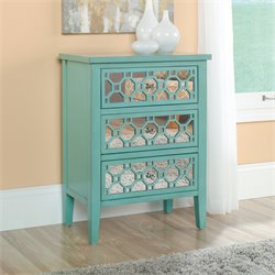 Sauder Shoal Creek Accent Chest in Seafoam Green