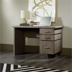 Single Pedestal Desk in Fossil Oak