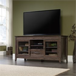 Sauder Carson Forge TV Stand in Coffee Oak