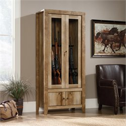Gun Display Cabinet in Craftsman Oak