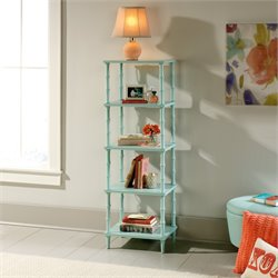 4 Shelf Tower Etagere in Seafoam