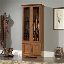 Gun Display Cabinet in Washington Cherry