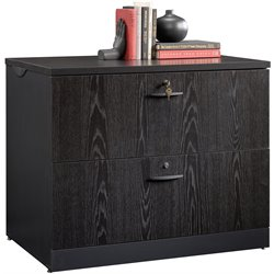 Sauder Via 2 Drawer Lateral File Cabinet in Bourbon Oak