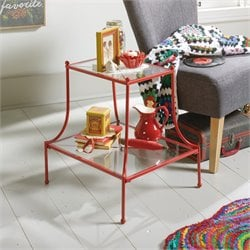 End Table in Red