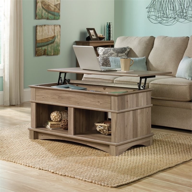 Lift top coffee table in salt oak 420329 for Furniture oak harbor