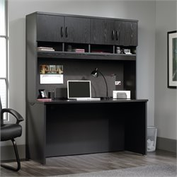 Sauder Via Writing Desk with Hutch in Bourbon Oak