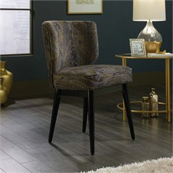 Sauder International Lux Roxy Accent Chair in Autumn Brocade Fabric
