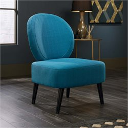 Sauder International Lux Maya Accent Chair in Pacific Blue Fabric