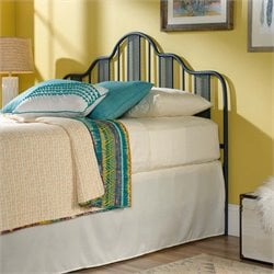 Sauder Viabella Queen Metal Spindle Headboard in Navy Blue
