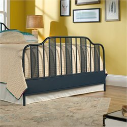 Sauder Viabella Queen Metal Spindle Footboard in Navy Blue