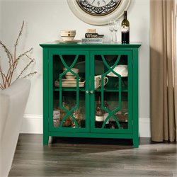 Sauder Shoal Creek Accent Curio Cabinet in Emerald Green