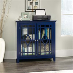 Sauder Shoal Creek Accent Curio Cabinet in Indigo Blue