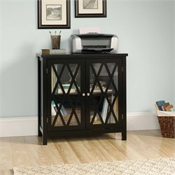 Sauder Harbor View Accent Curio Cabinet in Black