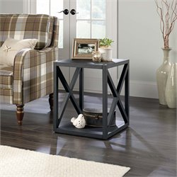 Sauder New Grange Side Table in Matte Black