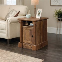 Sauder Palladia Side Table in Vintage Oak