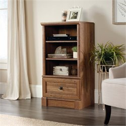 Sauder Palladia 3 Shelf Audio Rack in Vintage Oak