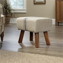 Sauder New Grange Accent Stool in Beige Linen