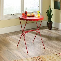 Sauder Viabella Bistro Table in Red