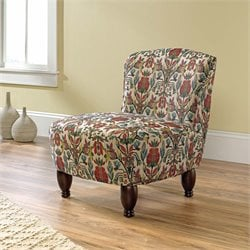 Sauder Viabella Accent Chair in Stylized Floral Pattern Fabric