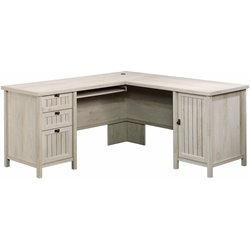 MER-1274 Costa L Shaped Computer Desk in Chalked Chestnut