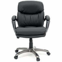 Sauder Gruga Manager Swivel Chair in Black