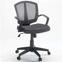 Sauder Gruga Mesh Office Chair in Dark Gray