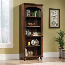 Sauder Harbor View 5 Shelf Bookcase in Curado Cherry