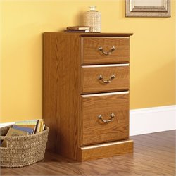 3-Drawer Pedestal in Carolina Oak finish