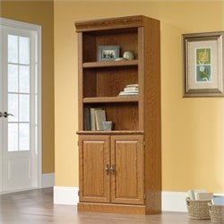 Sauder Orchard Hills 3 Shelf Bookcase in Carolina Oak