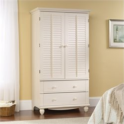 Armoire in Antiqued White