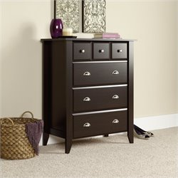 Sauder Shoal Creek 4 Drawer Chest in Jamocha Wood
