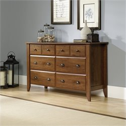 Sauder Shoal Creek 6 Drawer Dresser in Oiled Oak