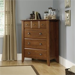 Sauder Shoal Creek 4 Drawer Chest in Oiled Oak