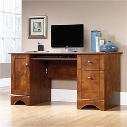 Sauder Select Computer Desk in Brushed Maple