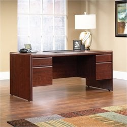 Sauder Cornerstone Executive Desk in Classic Cherry