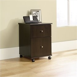 Sauder Select Mobile File Cabinet in Cinnamon Cherry