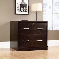 2 Drawer File Cabinet in Dark Alder