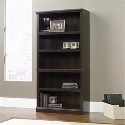 Sauder Select 5 Shelf Bookcase in Cinnamon Cherry