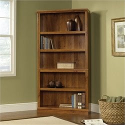 Sauder Select 5 Shelf Bookcase in Abbey Oak