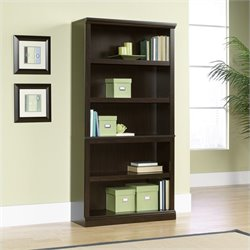 Sauder Select 5 Shelf Bookcase in Jamocha Wood