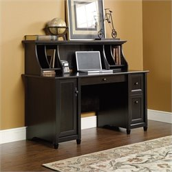 Computer Desk with Hutch in Estate Black