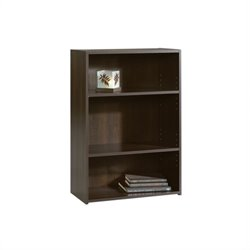 Sauder Beginnings 3-Shelf Bookcase in Cinnamon Cherry