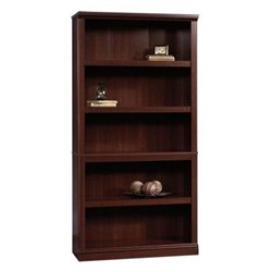 Sauder 5 Shelf Bookcase in Select Cherry