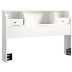 Sauder Shoal Creek Full/ Queen Bookcase Headboard in White